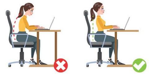 corretta postura da seduti